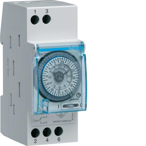 Χρονοδιακόπτης αναλογικός 24 ωρών με εφεδρεία 230V AC EH211